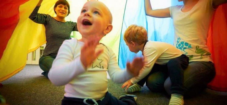 Cvičenie a tanec detí s maminkami